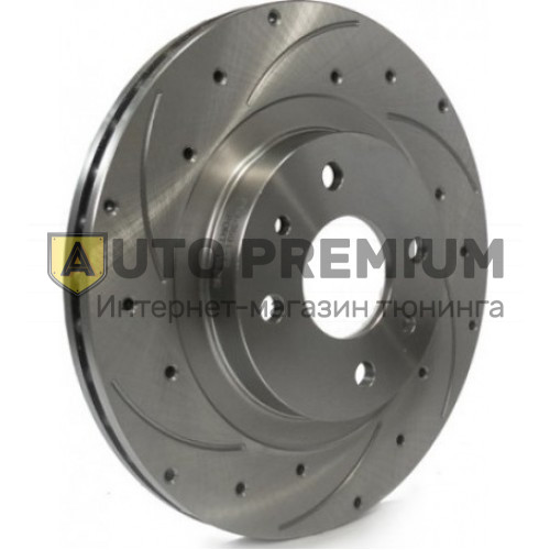 Передние тормозные диски Alnas Euro Sport 2112-04 с перфорацией и проточкой, для автомобилей с радиусом диска R14